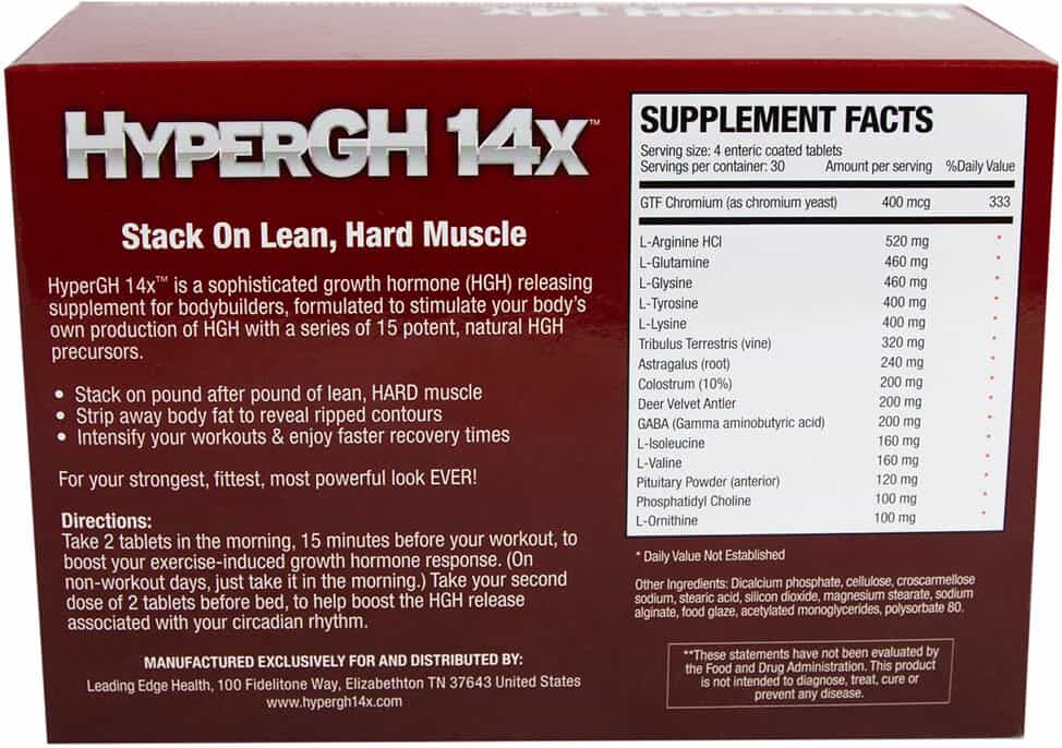 HyperGH 14x Ingredients and Side Effects