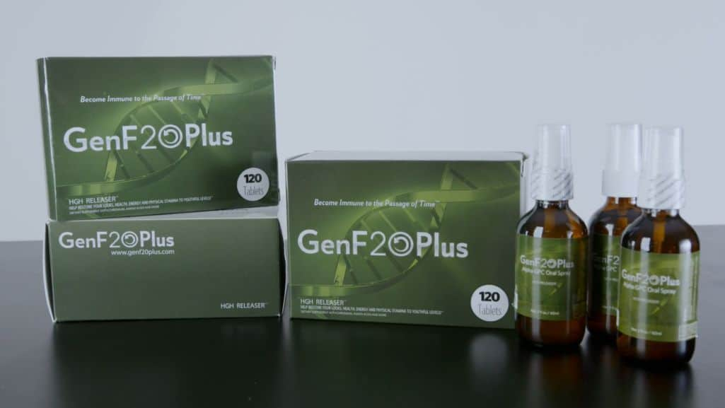 GenF20 Plus pill boxes and spray bottles