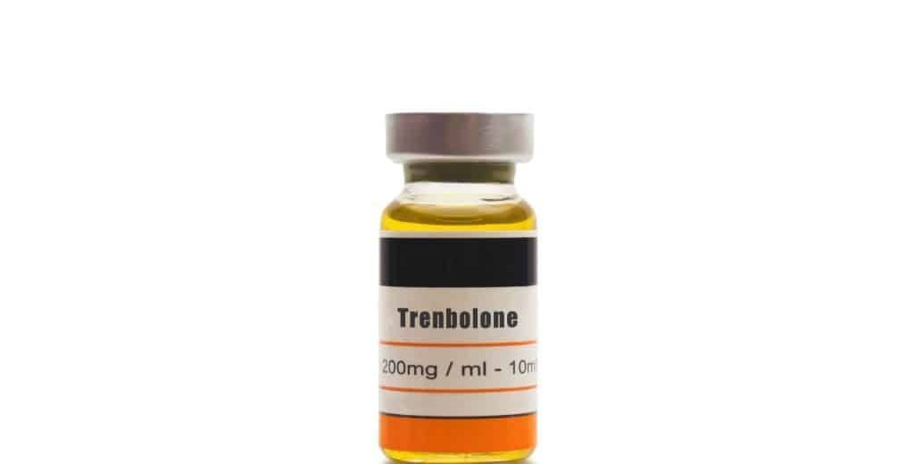 Trenbolone vial on white background