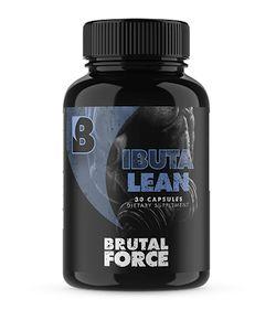 Brutal Force IBUTALEAN bottle on white background